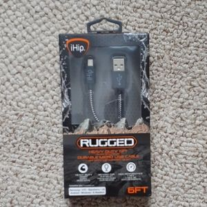 BNWT Rugged 6ft micro usb cable